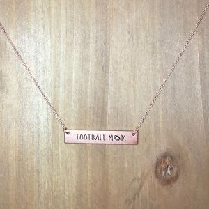 "Jewelry - ""Football mom"" bar necklace"